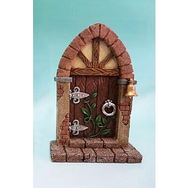 Hi-Line Gift Ltd. 72046-01-B, Fairy Mini Garden Door with Bell and Vines
