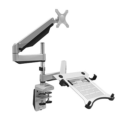 Loctek D7DP Gas Spring Dual Monitor Arm Desk Mounts