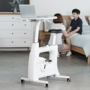 Loctek Flexispot Deskcise Pro V9 Desk Exercise Bike, White