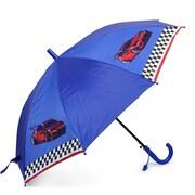 Zodaca - Parapluie pour enfant léger en nylon avec poignée en forme de crochet, voitures sur fonds bleu marine