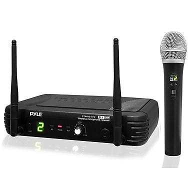 Pyle Pro Wireless Handheld Microphone System with Selectable Frequencies (PDWM1902)