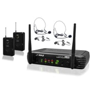 Pyle Pro UHF Wireless Microphone System with Microphone Kit (PDWM3400)