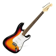 Pyle Beginners Electric Guitar Kit with Amplifier and Accessories, Sunburst (PEGKT15SB)
