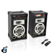 Pyle Pro Disco Jam Powered 2-Way Bluetooth Speaker System (PSUFM837BT)