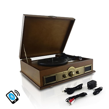 Pyle Vintage Bluetooth Turntable with Digital MP3 Recording, Wood (PTT30WD)
