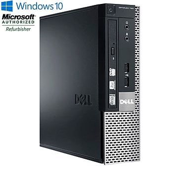 DELL - PC de table OPTIPLEX 790 USFF remis à neuf, Intel Core i3 2100, 3 GHz, DD 500 Go, DDR3 8 Go, Windows 10 Famille