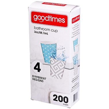 Goodtimes™ Contemporary Paper Cup, 3oz, 200/Pack