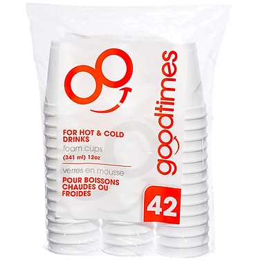 Goodtimes - Gobelets en styromousse, 12 oz