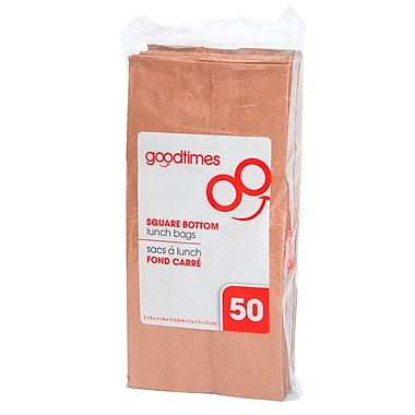 Goodtimes™ Large Kraft Paper Lunch Bags, 50/pack