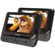 "Sylvania 7"" Dual Screen Portable DVD Player, Black (SDVD7750)"