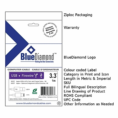 BlueDiamond Serial ATA Cable - 100cm, (6172)