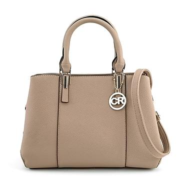 Club Rochelier Double Top Handle Handbag with Adjustable Shoulder Strap, Blush