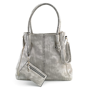 Club Rochelier Secure Top Zip Shoulder Handbag with Coin Purse and Adjustable Shoulder Strap, Taupe