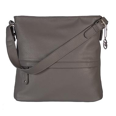 Club Rochelier Hobo Shaped Handbag with Multifunctional Pockets, Charcoal