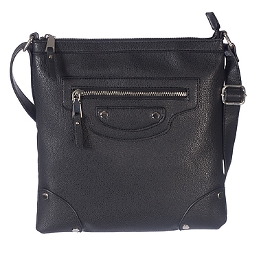 Club Rochelier Cross-Body Handbags with Multi Functional Pockets and Removable and Adjustable Shoulder Strap, Black
