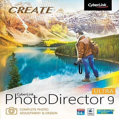 CyberLink – Logiciel PhotoDirector 9 Ultra, Windows [téléchargement]