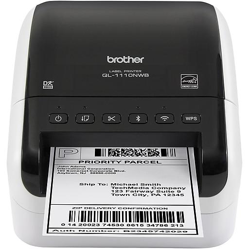 Brother QL-1110NWB Direct Thermal Printer, Monochrome, Desktop, Label Print
