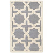 "Safavieh Cambridge Area Rug, 24"" x 36"", Silver/Ivory (CAM125D-2)"