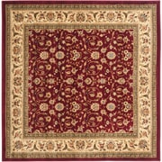 Safavieh Lyndhurst Square Area Rug, 8' x 8', Red/Ivory (LNH312A-8SQ)