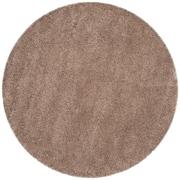 Safavieh California Shag Round Area Rug, Taupe, 4' x 4' (SG151-2424-4R)