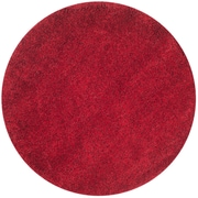 Safavieh California Shag Round Area Rug, 4' x 4', Red (SG151-4040-4R)
