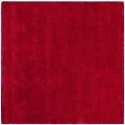 "Safavieh California Shag Area Rug, 80"" x 80"", Red (SG151-4040-7SQ)"