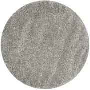 Safavieh California Shag Round Area Rug, Silver, 4' x 4' (SG151-7575-4R)