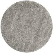 "Safavieh California Shag Area Rug, 80"" x 80"", Silver (SG151-7575-7R)"