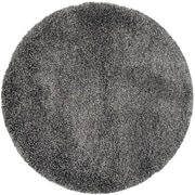 "Safavieh California Shag Round Area Rug, 103"" x 103"", Dark Grey (SG151-8484-9R)"