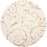 Safavieh Florida Shag Round Area Rug, 4' x 4', Cream/Beige (SG455-1113-4R)
