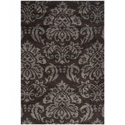 "Safavieh Florida Shag Area Rug, 48"" x 72"", Dark Brown/Smoke (SG460-2879-4)"