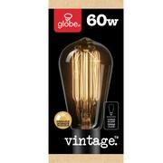 Globe – Ampoule filament incandescente en forme de poire style rétro Edison S60, culot moyen (1321)