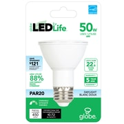 Globe 6W LED For Life Light Bulb, PAR 20 (31864)