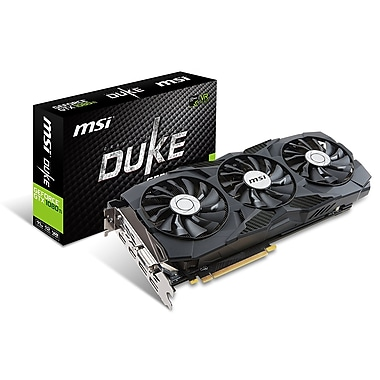 MSI GeForce GTX 1080 TI Duke 11G OC Graphics Card (X1080TIDUKE11GOC)