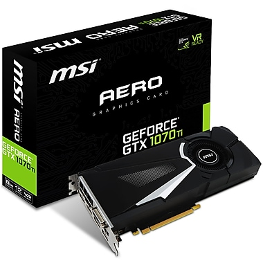 MSI – Carte graphique GeForce GTX 1070 TI Aero 8G (GTX1070TIAERO8G)