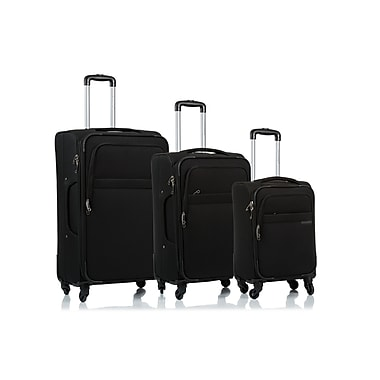 CHAMPS Luggage BROOKLYN Collection 3-Piece Soft Side 4-Wheeled Expandable Luggage Set