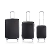 CHAMPS Luggage Wide Body Collection 3-Piece Hard Side 4-Wheeled Expandable Luggage Set