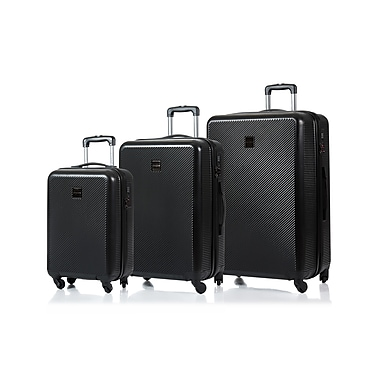 CHAMPS Luggage ICONIC Collection 3-Piece Hard Side 4-Wheeled Expandable Luggage Set