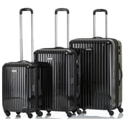 CHAMPS Luggage GALAXY Collection 3-Piece Hard Side 4-Wheeled Expandable Luggage Set
