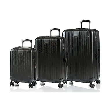 CHAMPS Luggage London Collection 3-Piece Hard Side 4-Wheeled Expandable Luggage Set, Black