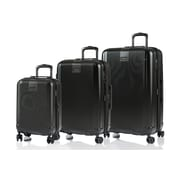 CHAMPS Luggage London Collection 3-Piece Hard Side 4-Wheeled Expandable Luggage Set
