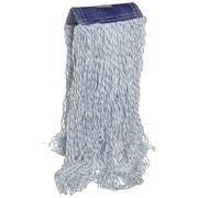 "Super Stick Finish Mop Head, 5"" Headband, Medium, White/Blue"