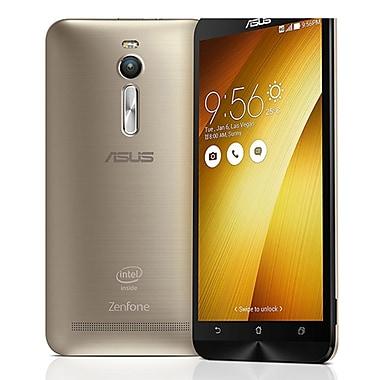 Asus - Cellulaire déverrouillé ZenFone 2 remis à neuf, 5,5 po, 64 Go, 2,3 GHz Intel Atom Z3580 4 coeurs, Android 5.0, or, ZE551M