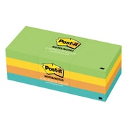 """Post-it Notes, Jaipur Collection, 1.5"""" x 2"""", 100 Sheets/Pad, 12/Pack"""