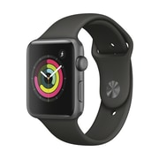 Apple Watch Series 3, 42mm, GPS, Space Grey Aluminium Case with Grey Sport Band, MR362CL/A