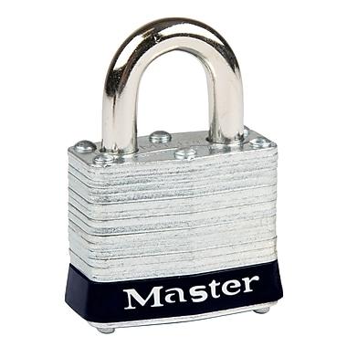 Master Lock® – Cadenas de sécurité Série 3 en acier laminé, noir, largeur du corps 1 9/16 po, paq./6 (3BLK)
