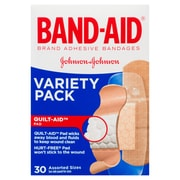 BAND-AID Brand Adhesive Bandages, Variety Pack, 30/Pack