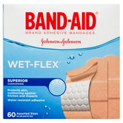 BAND-AID Brand® WET-FLEX Bandages, Assorted, 60/Pack