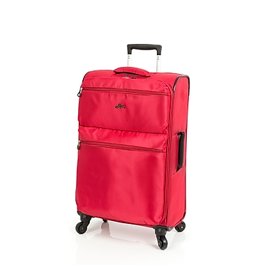 Skyway Bridgeport - Valise à roulettes multidirectionnelles, 24 po, rouge