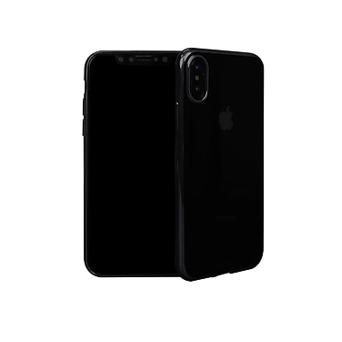 Viva Madrid Metalico Flex Soft Shell Case For iPhone X, Jet Black (VIVA-IPXBC-MFXJBK)